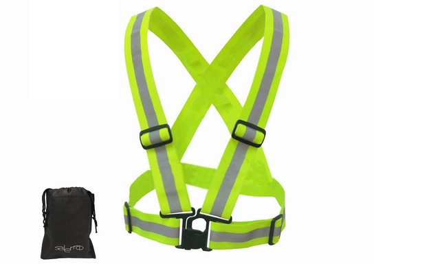 salerno(サレルノ) ナイトラン ブルベ 用 反射ベスト 安全ベスト ジョキング 自転車 バイク にも メンズ レディース 兼用 専用収納袋セット